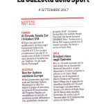 LA GAZZETTA DELLO SPORT 4 settembre 2017