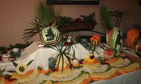 cena di gala frutta