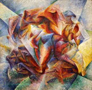 """Dinamismo di un footballer"" - Umberto Boccioni- 1913- Olio su tela 195 x 200. New York Moma"