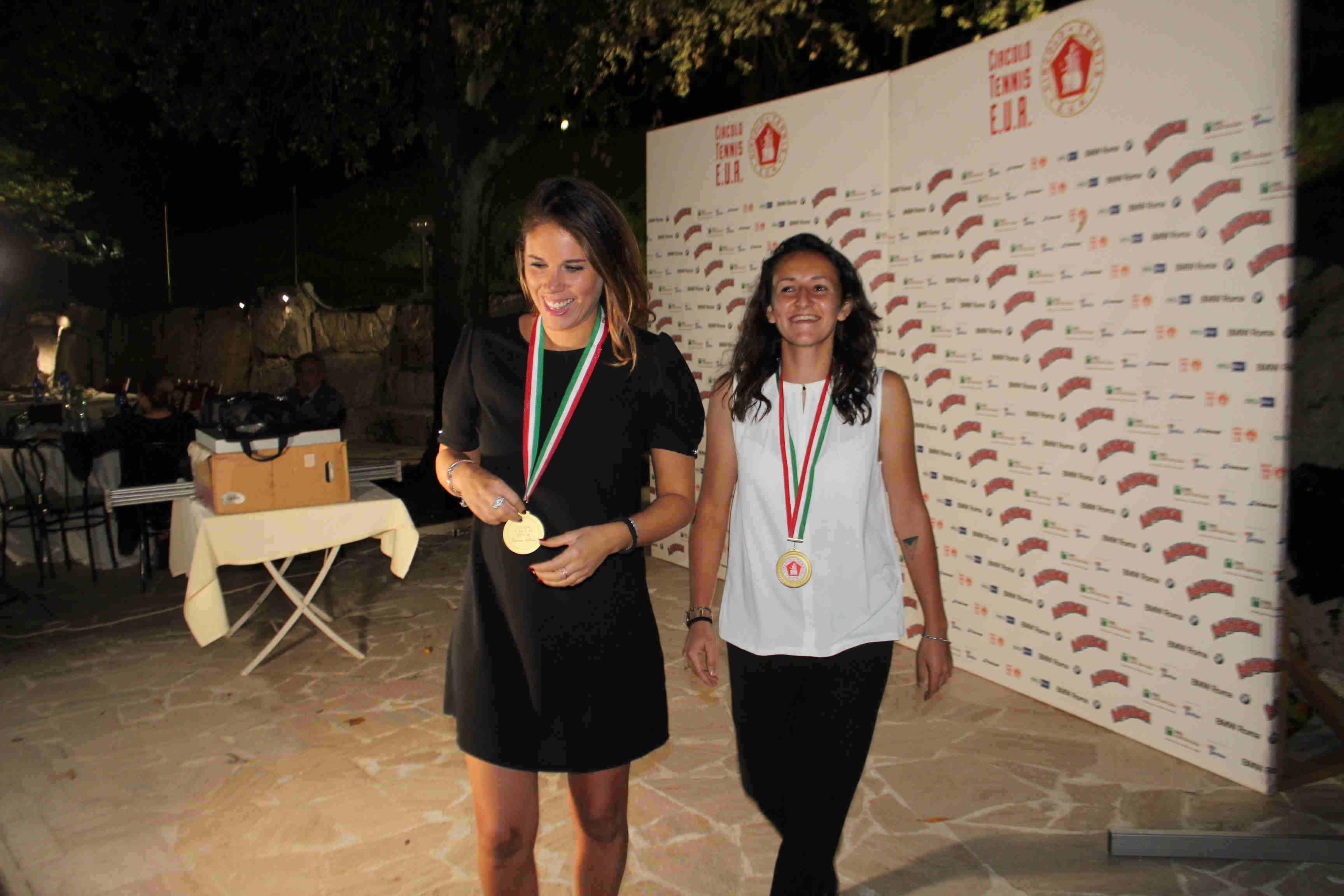 4 le Tenniste di serie A Francesca Ballarini (sx) e Alessandra Amodeo