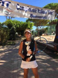 Daniela Colombo, campionessa italiana Over 60 del 2019